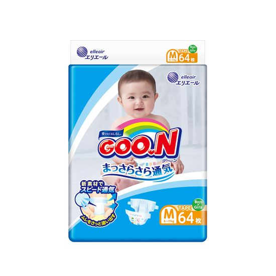 Подгузники Goo.N, размер M, 6-11 кг, 64 шт new, арт. 843154
