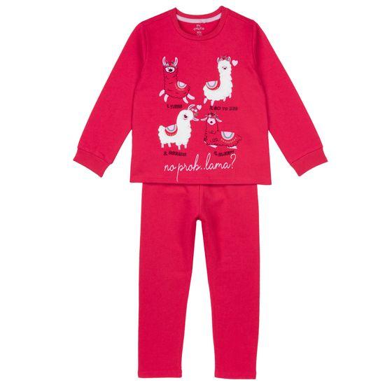 Пижама Chicco Cute Lama, арт. 090.31380.018, цвет Красный