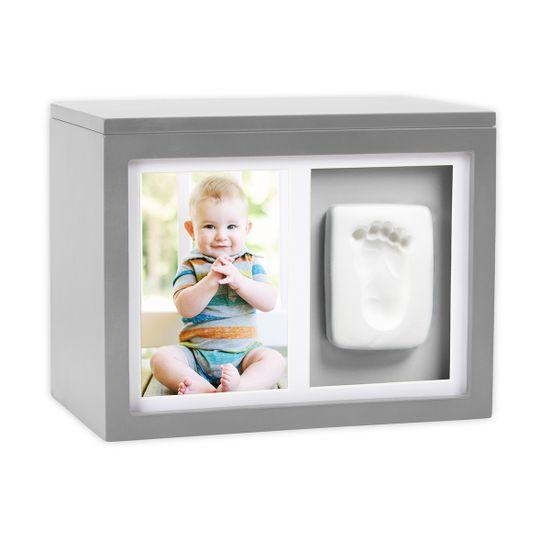 Шкатулка Memory Box с глиняным слепком (серая), арт. P62002, цвет Серый