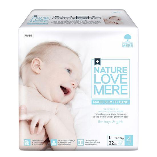 Подгузники Nature Love Mere Magic Slim Fit, размер 4 (L), 9-12 кг, 22 шт, арт. 8809402093748