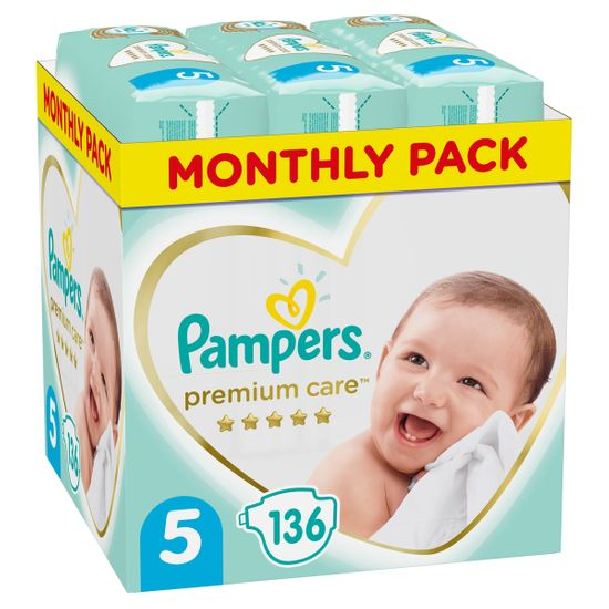 Подгузники Pampers Premium Care, размер 5, 11-16 кг, 136 шт, арт. 8001090959690