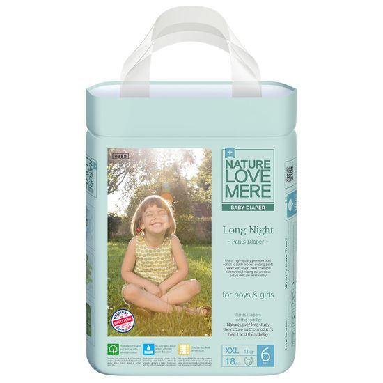 Подгузники-трусики Nature Love Mere Long Night, размер 6 (XXL), от 13 кг, 18 шт, арт. 8809402093250
