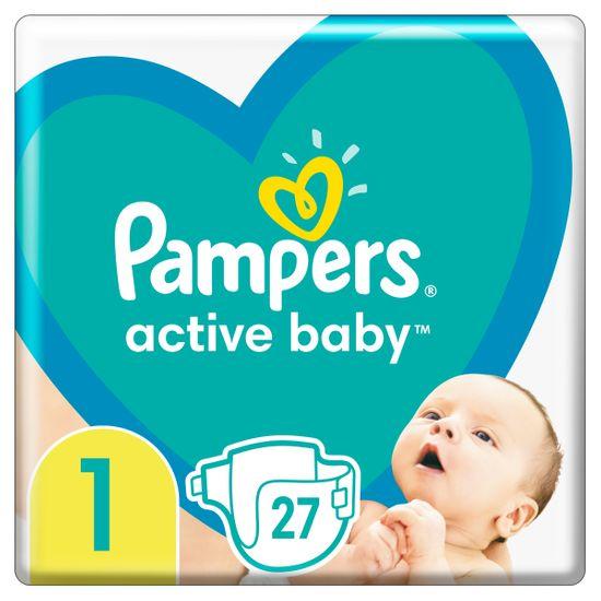 Подгузники Pampers Active Baby, размер 1, 2-5 кг, 27 шт, арт. 8001090910080