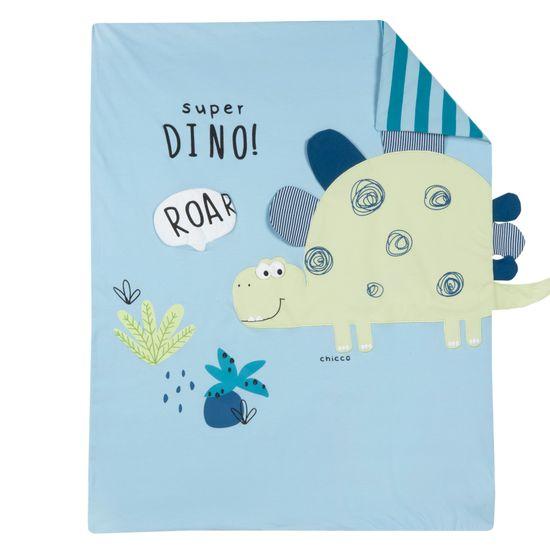 Одеяло Chicco Super Dino, арт. 090.05173.025, цвет Голубой