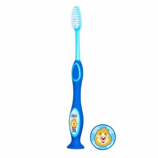 Зубная щетка Chicco, 3-6 лет, арт. 09079, цвет Синий