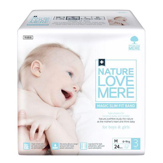 Подгузники Nature Love Mere Magic Slim Fit, размер 3 (M), 6-9 кг, 24 шт, арт. 8809402093731