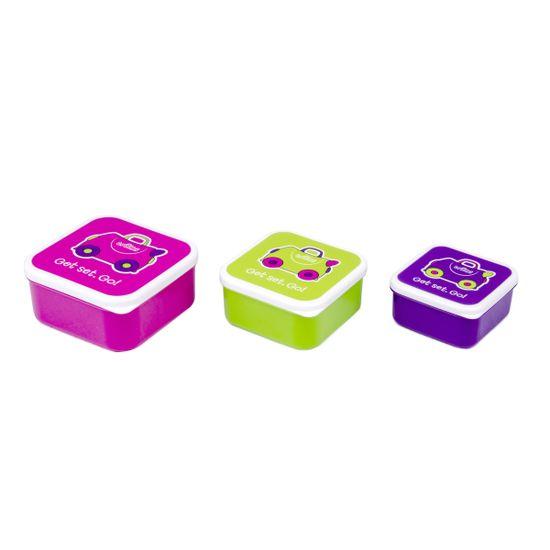 Набор контейнеров для еды Trunki (малиновый, салатовый, фиолетовый), арт. 0300-GB01, цвет Розовый