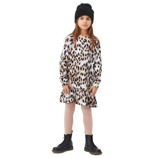 Платье Molo Carlotta Snowy Leo Fur, арт. 2W21E217.6403, цвет Черный
