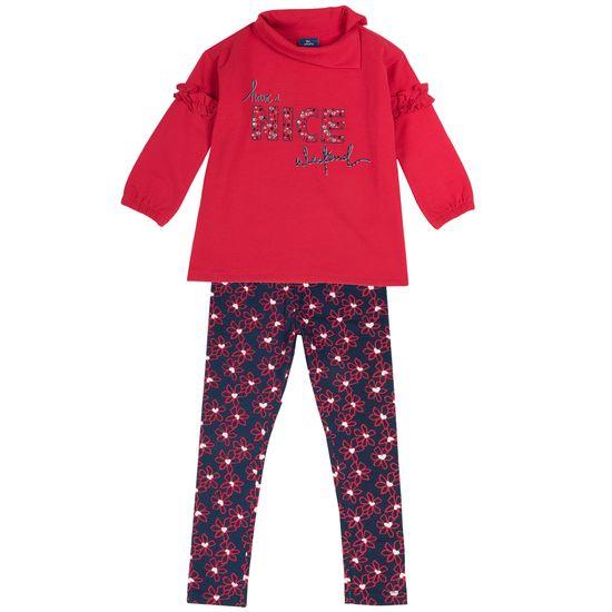 Костюм Chicco Nice: джемпер и леггинсы, арт. 090.76358.086, цвет Красный