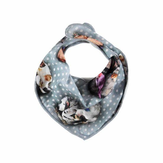 Слюнявчик Molo Nayela Pets'n Dots, арт. 7W19T101.4872, цвет Серый