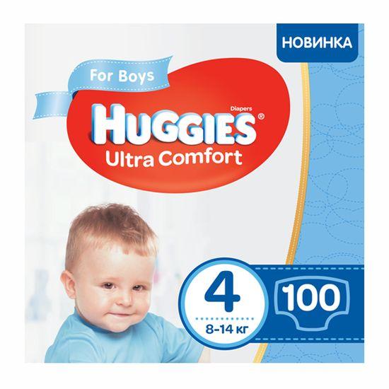 Подгузники Huggies Ultra Comfort для мальчика, размер 4, 8-14 кг, 100 шт, арт. 5029053547831