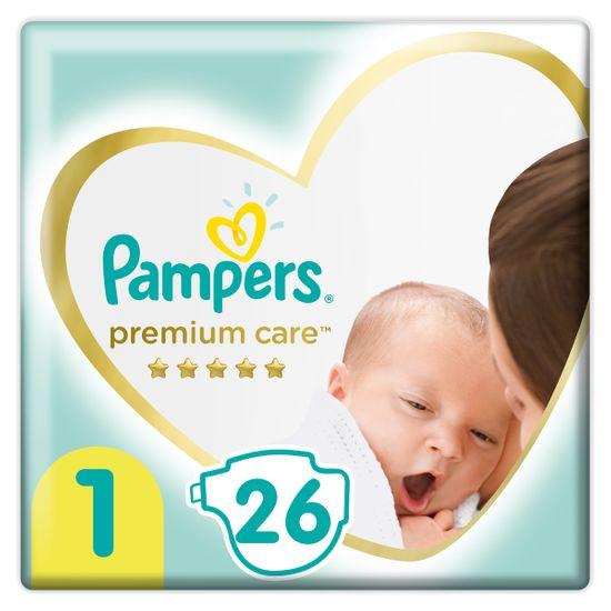 Подгузники Pampers Premium Care, размер 1, 2-5 кг, 26 шт, арт. 8001841104614