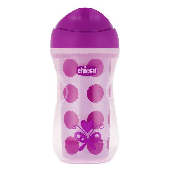 Поильник непроливной Chicco Active Cup, 266мл, 14м+, арт. 06981, цвет Розовый