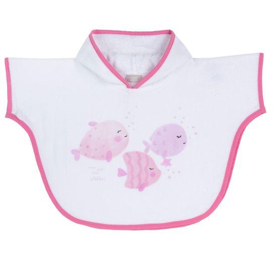 Полотенце-пончо Chicco Fishes , арт. 090.40977.015, цвет Розовый