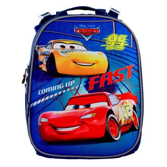 """Рюкзак школьный каркасный 1Вересня """"Fast Cars"""", арт. 556201"""