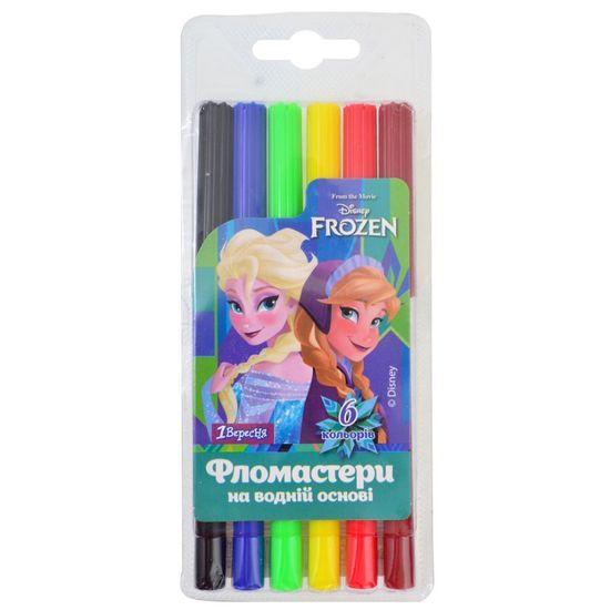 """Фломастеры 1Вересня """"Frozen"""", 6 цв. , арт. 650349"""