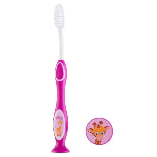 Зубная щетка Chicco, 3-6 лет, арт. 09079, цвет Малиновый