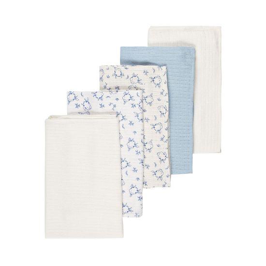 Муслиновые пеленки (5 шт) Name it Blue, арт. 193.13167688.BFOG, цвет Голубой
