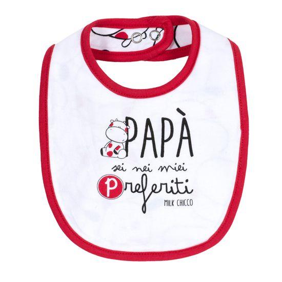 Слюнявчик Chicco Milk & Baby, арт. 090.32565.033, цвет Красный