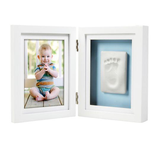 Рамка двойная для фото и глиняного слепка (белая), арт. P63004, цвет Белый