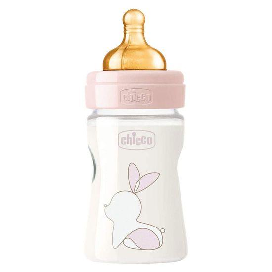 Бутылочка пластик Chicco Original Touch, 150мл, 0м+, арт. 27610, цвет Розовый