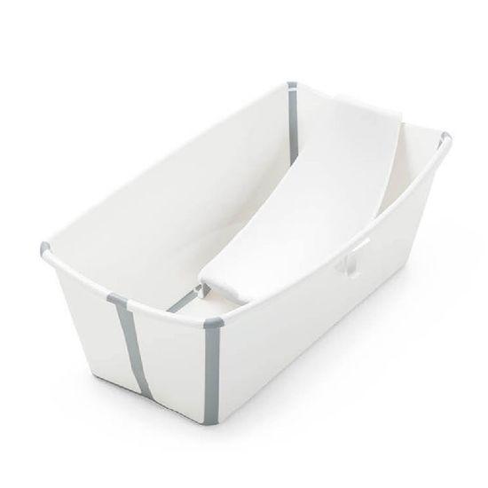 Набор Stokke Flexi Bath: ванночка складная и адаптер, арт. 5315, цвет Белый
