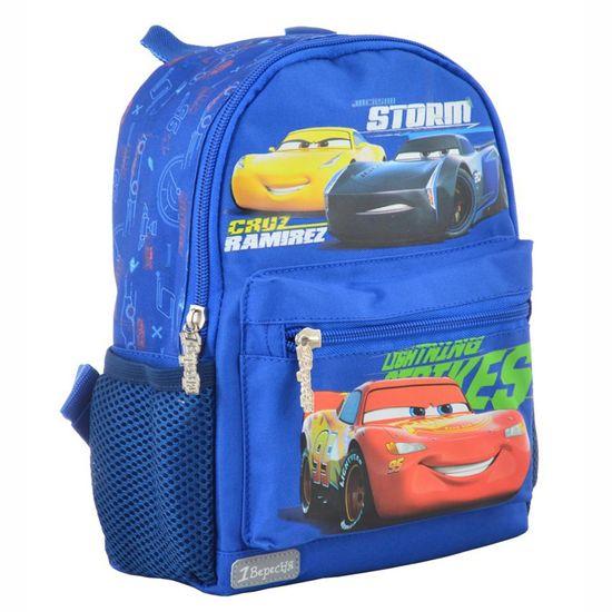 """Рюкзак детский 1Вересня """"Cars"""", арт. 554764, цвет Голубой"""