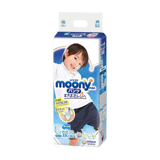 Подгузники-трусики Moony для мальчика, размер XXL, 13-28 кг, 26 шт, арт. 4903111211098