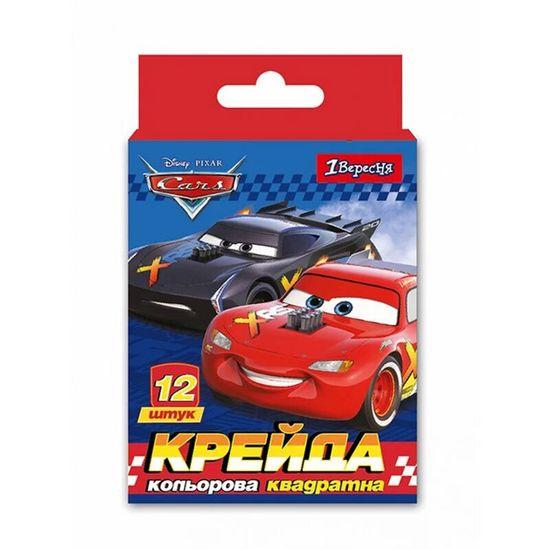 """Мел цветной 1Вересня """"Cars"""", 12 шт, арт. 400413"""