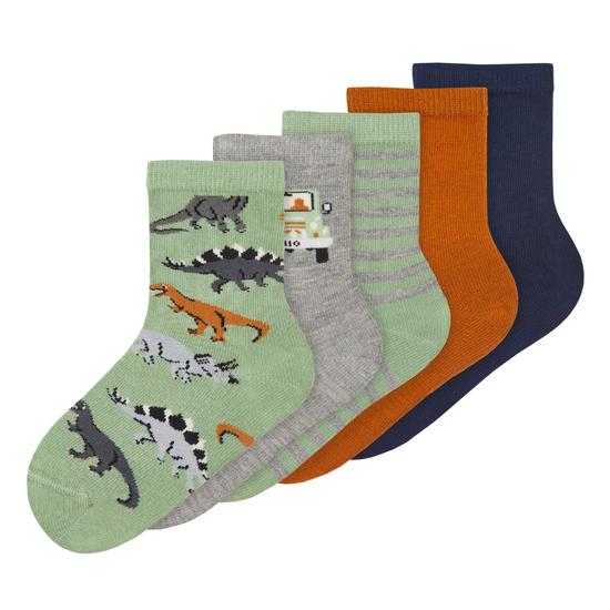 Носки (5 пар) Name it Dinosaur World, арт. 213.13191343.BASI, цвет Зеленый