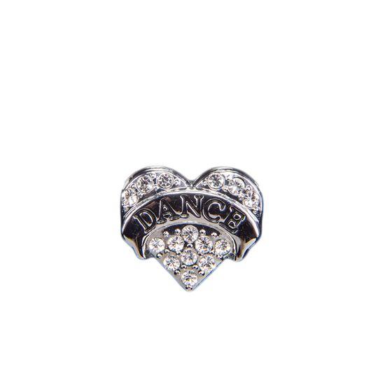 "Эмодзи Tinto ""Silver dance heart"", арт. AC2239.1, цвет Серебряный"