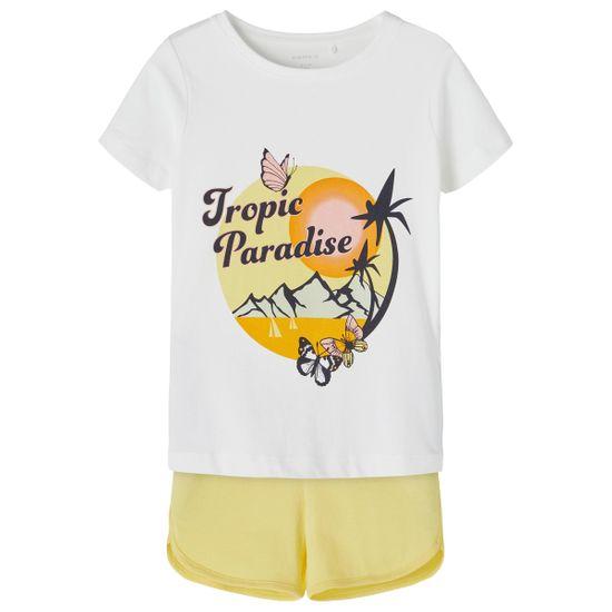 Костюм Name it Paradise white: футболка и шорты, арт. 211.13187619.BWHI, цвет Желтый