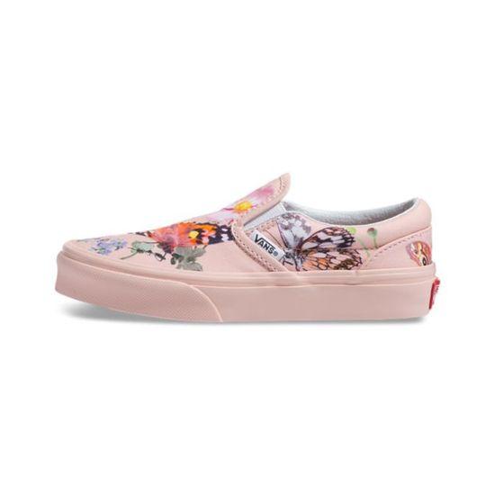 Слипоны Vans (Molo) Butterfly Stripe, арт. VA32QIVIE, цвет Розовый