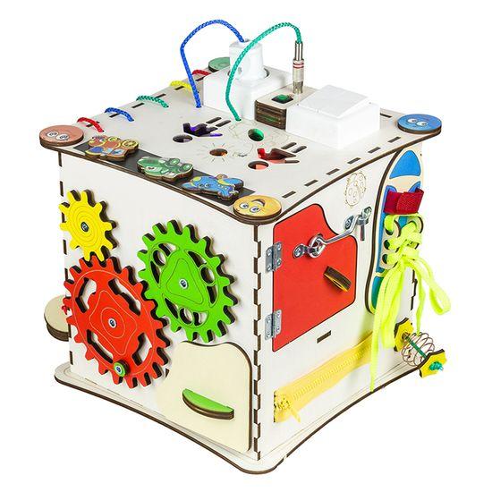 """Бизиборд GoodPlay """"Кубик"""", 25х25х25 см, с подсветкой, арт. K009"""