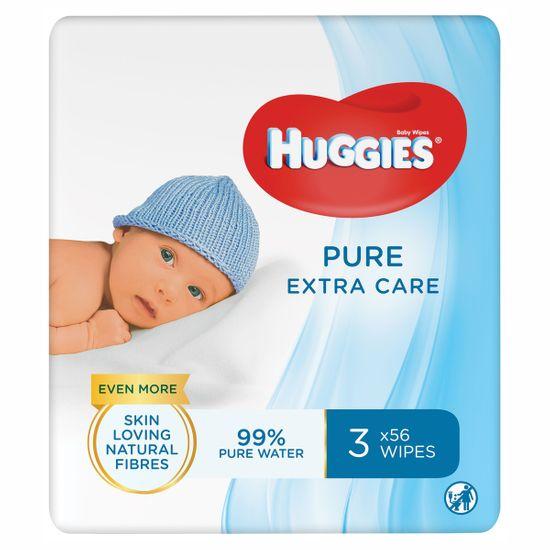 Салфетки влажные Huggies Pure Extra Care, 56шт х 3уп., арт. 5029054222119
