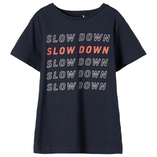 Футболка Name it Slow down, арт. 211.13187534.DSAP, цвет Синий