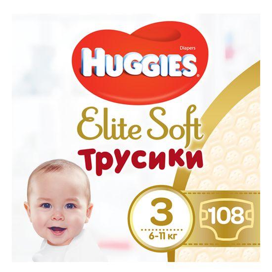 Подгузники-трусики Huggies Elite Soft, размер 3(М), 6-11 кг, 108 шт, арт. 5029053547091