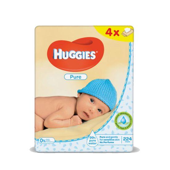 Салфетки влажные Huggies Pure, 56шт х 4уп., арт. 5029053550121