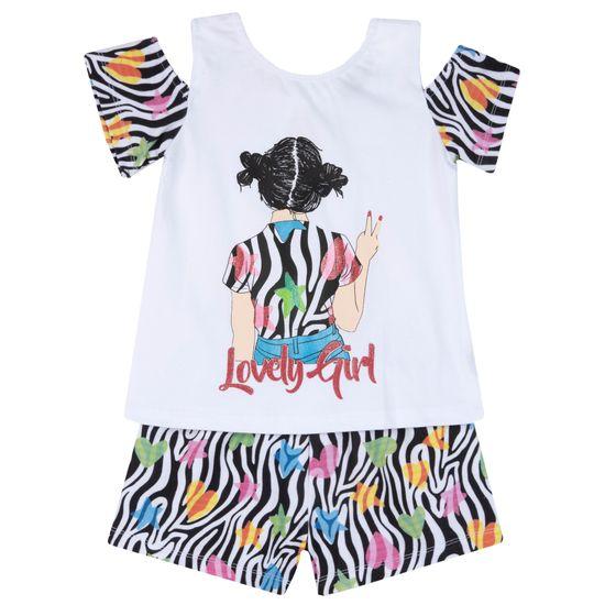 Костюм Chicco Lovely Girl: футболка и шорты, арт. 090.73657.039, цвет Белый