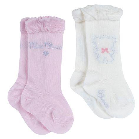 Носки (2 пары) Chicco Gentle hug, арт. 090.01610.010, цвет Розовый