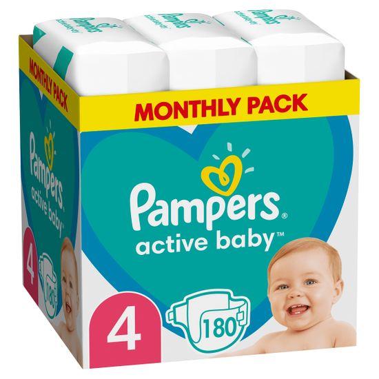 Подгузники Pampers Active Baby, размер 4, 9-14 кг, 180 шт, арт. 8006540032725