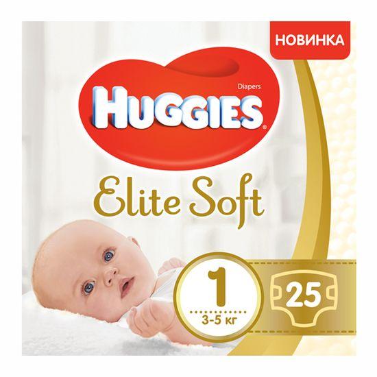 Подгузники Huggies Elite Soft, размер 1, 3-5 кг, 25 шт, арт. 5029053547923