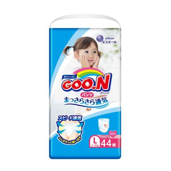 Подгузники-трусики Goo.N для девочки, размер L, 9-14 кг, 44 шт, арт. 853628