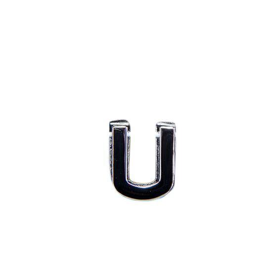 "Эмодзи Tinto ""Буква U"", арт. GMLT00931, цвет Серебряный"
