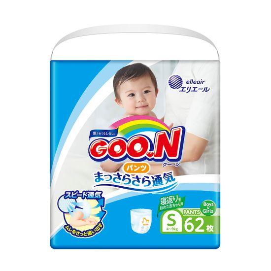 Подгузники-трусики Goo.N, размер S, 4-9 кг, 62 шт , арт. 853625