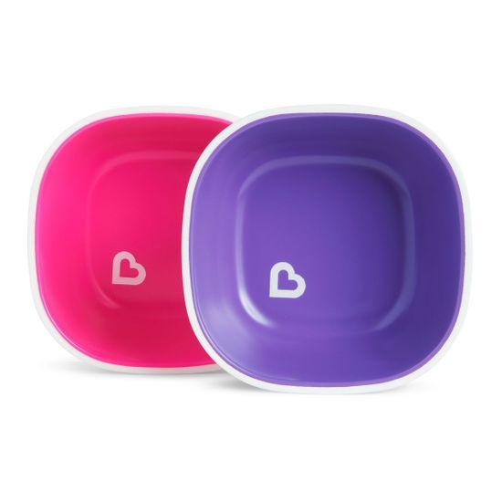 """Набор мисок Munchkin """"Splash Bowls"""", 2 шт., арт. 46725, цвет Розовый"""