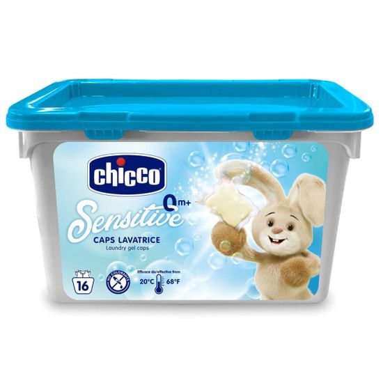 "Капсулы для стирки Chicco ""Sensitive"", 16 шт, арт. 10104.00"