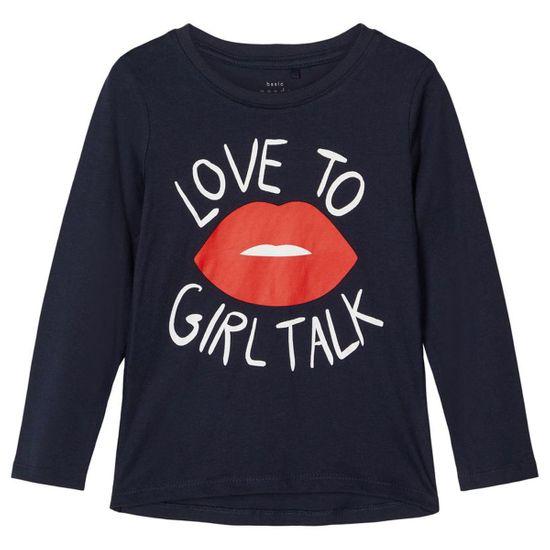 Реглан Name it Girls talk, арт. 211.13186923.DSAP, цвет Синий