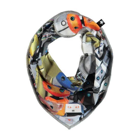 Слюнявчик Molo Nick Robots, арт. 7S19T102.4801, цвет Серый