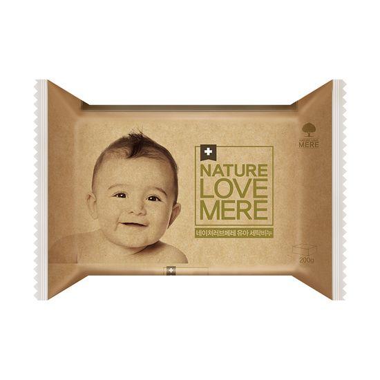 """Мыло для стирки детских вещей Nature Love Mere """"Original"""", гипоаллергенное, с маслом лаванды, 200 г, арт. 8809402090884"""